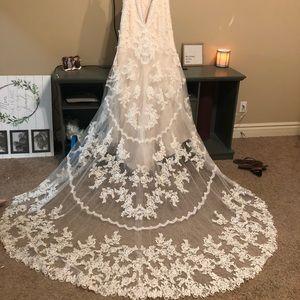Stella York Vintage Lace Wedding Gown